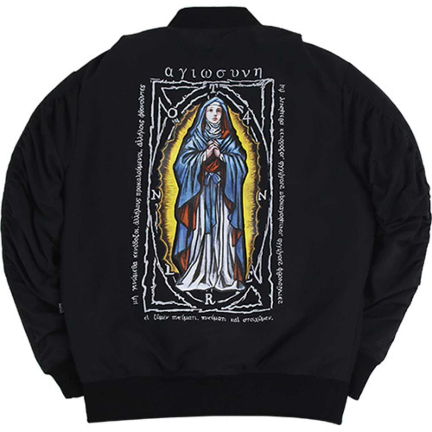 The Virgin Mary Ma-1 Jacket [Black]