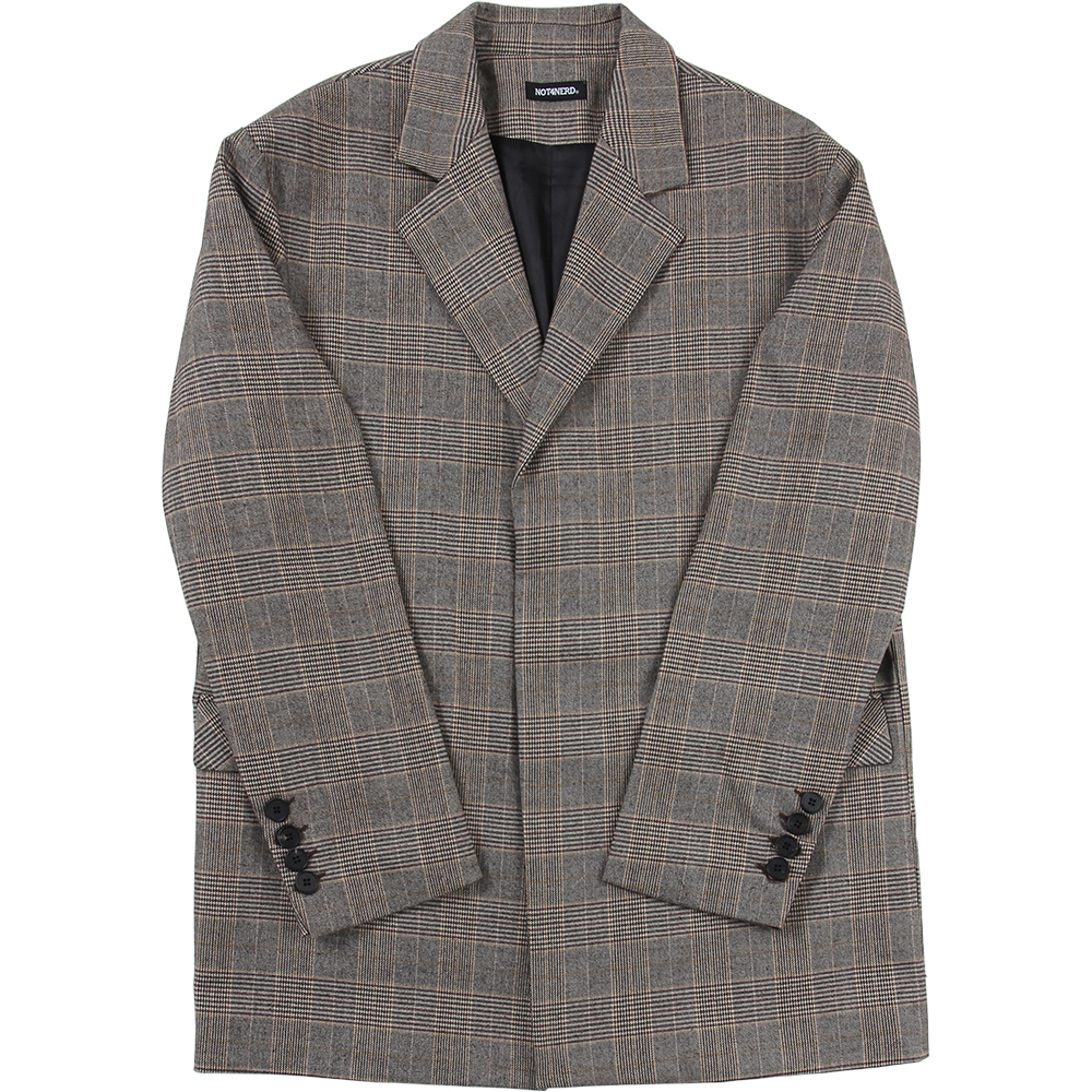 N4ND Oversized Blazer [Glen Check],NOT4NERD