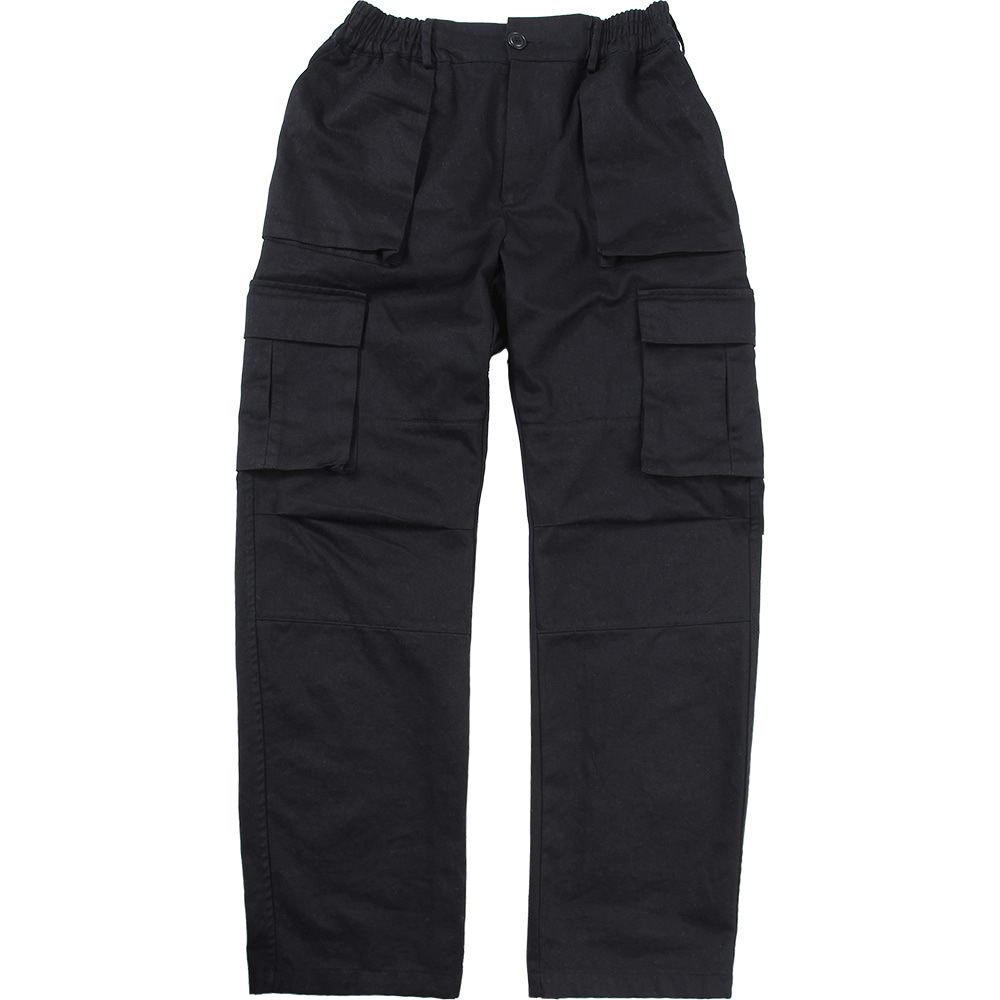 Cargo Pocket Pants [Black],NOT4NERD