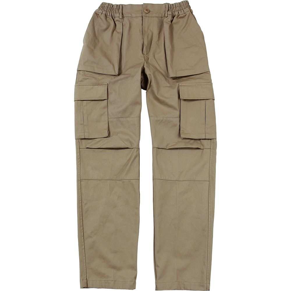 Cargo Pocket Pants [Beige],NOT4NERD