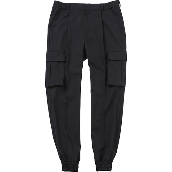 One Tuck Cargo Jogger Pants [Black],NOT4NERD