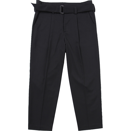 Belt One Tuck Pants [Black],NOT4NERD