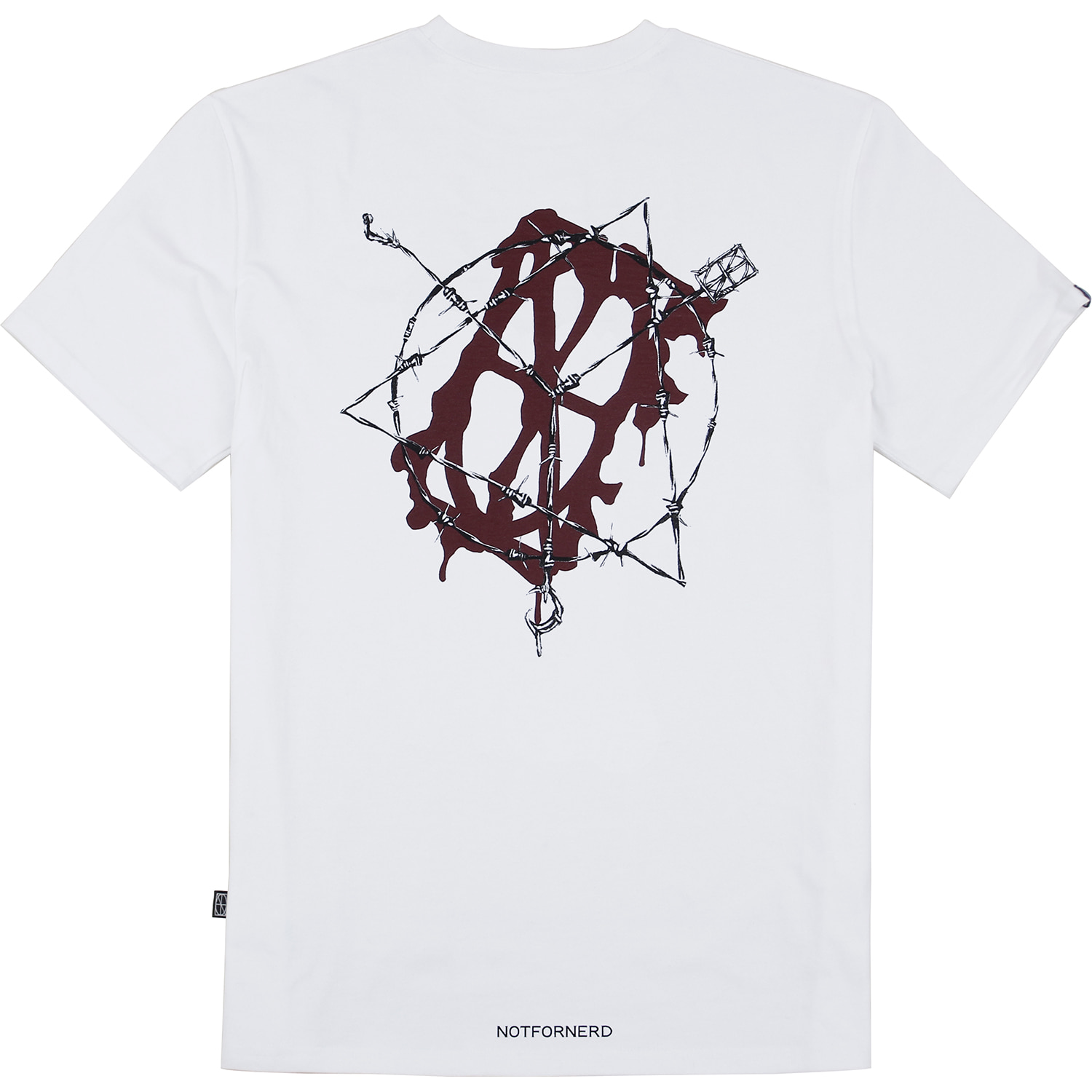 Wire Entanglement T-Shirts [White],NOT4NERD
