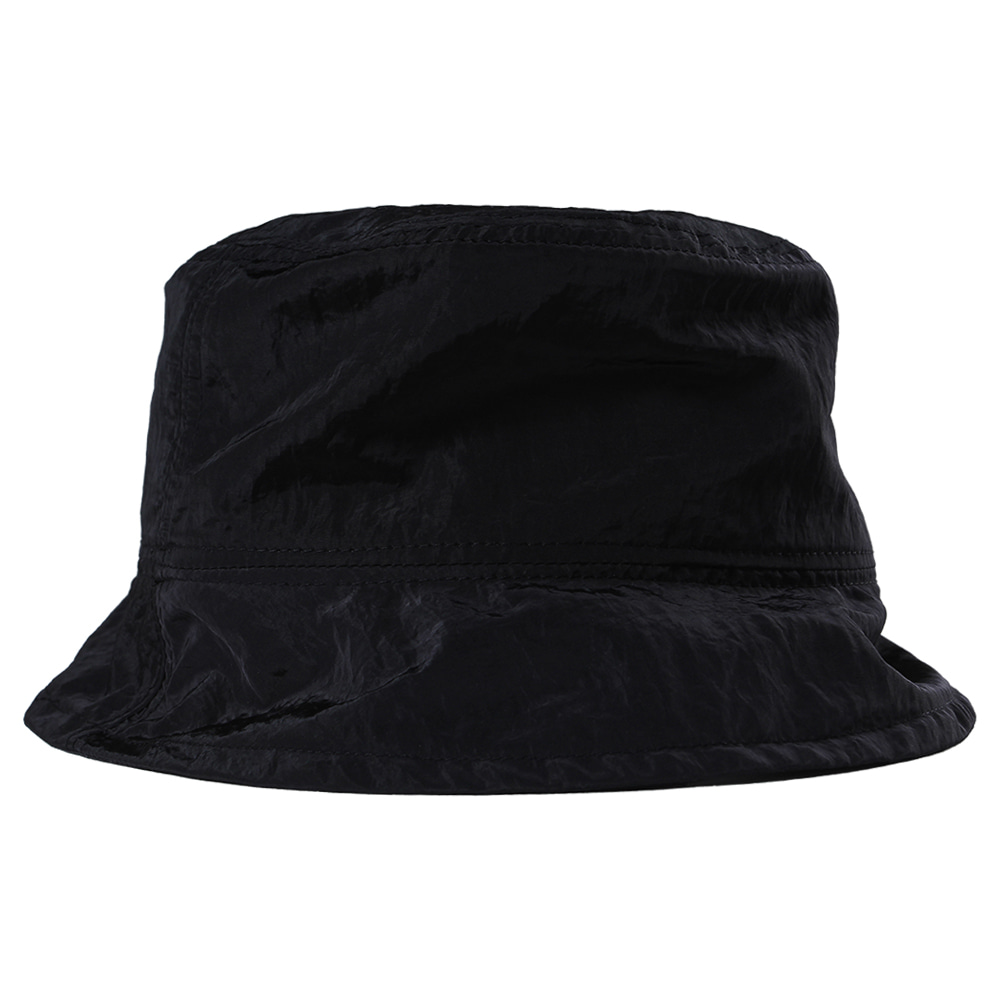 Nylon Metal Bucket Hat [Black],NOT4NERD