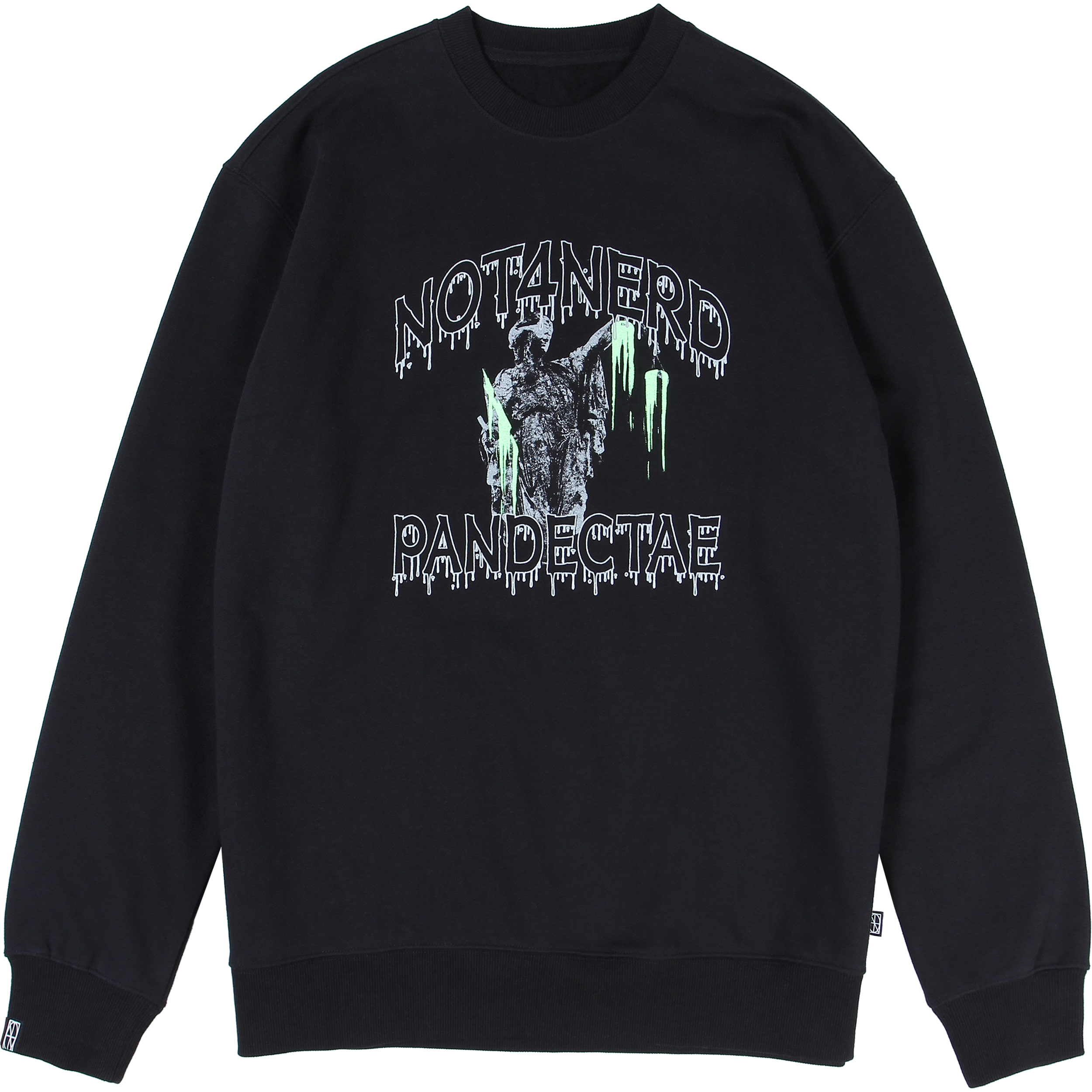 N-Justitia Crewneck [Black],NOT4NERD