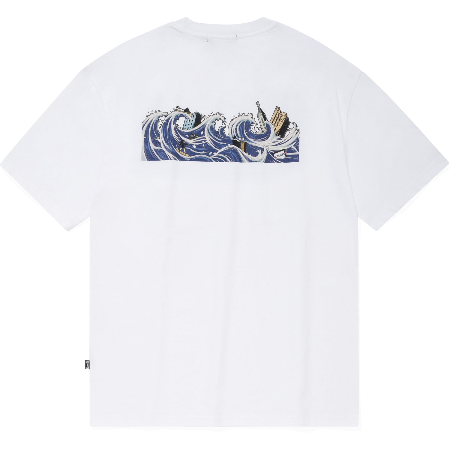Tidal Wave T-Shirts White,NOT4NERD