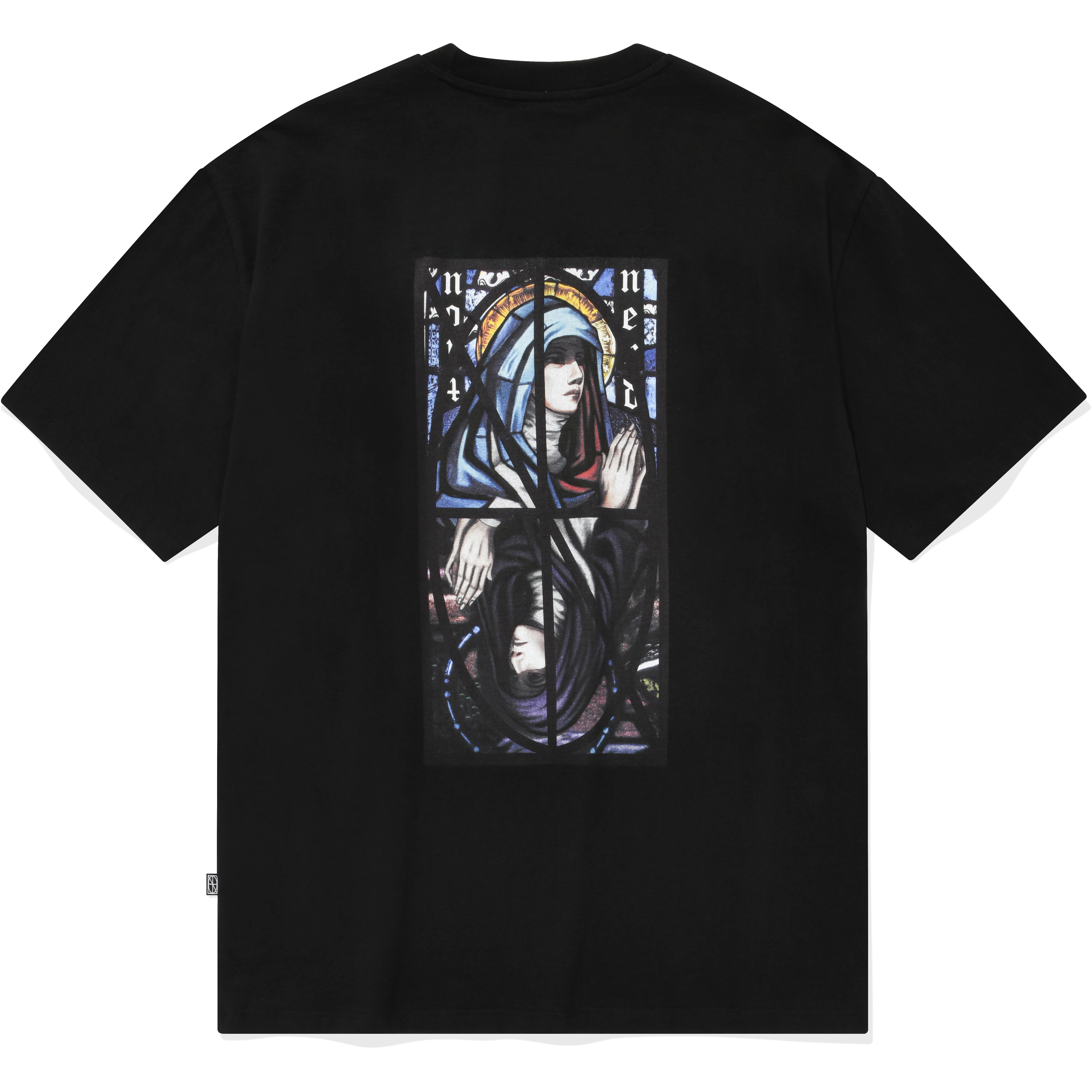Remake Two Virgin Mary T-Shirts Black,NOT4NERD