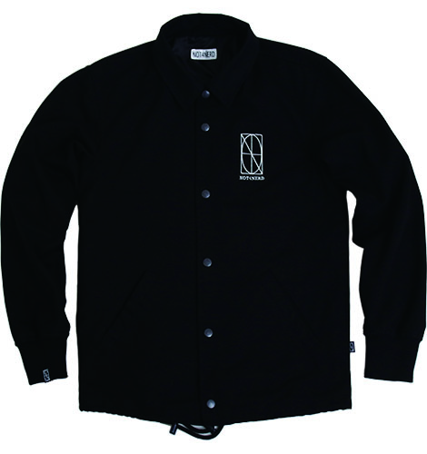 Two Faces Twill Coach Jacket [Black],NOT4NERD