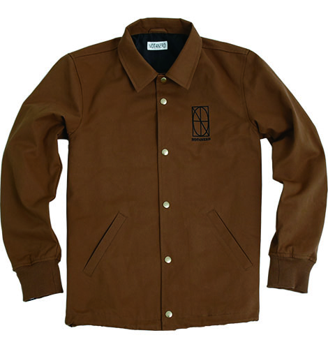 Two Faces Twill Coach Jacket [Brown],NOT4NERD