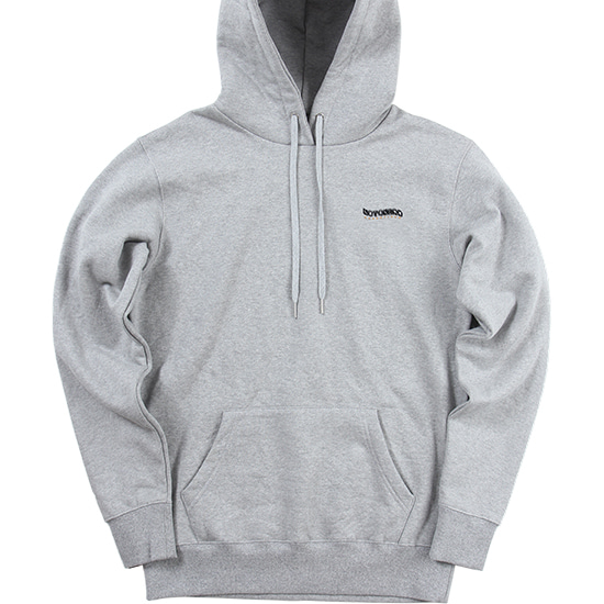 3Wave Logo Pullover Hood [Grey],NOT4NERD