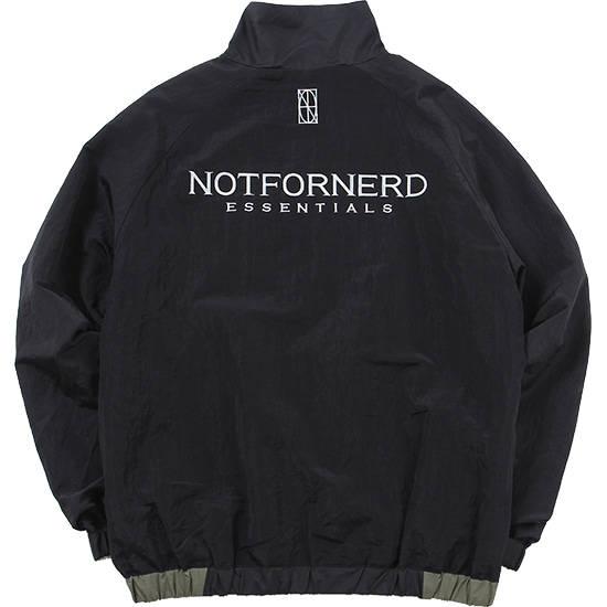 Reversible Nylon Metal Symbol Logo Jacket [Black],NOT4NERD
