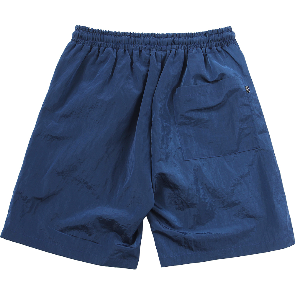 Nylon Metal Zipper Short [Navy],NOT4NERD