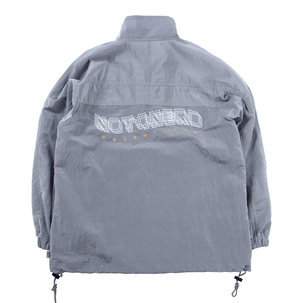 3Wave Logo Nylon Metal Anorak [Silver],NOT4NERD