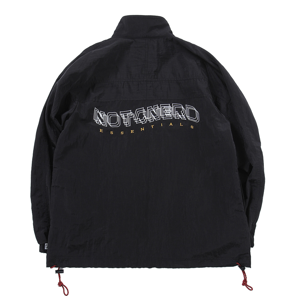 3Wave Logo Nylon Metal Anorak [Black],NOT4NERD