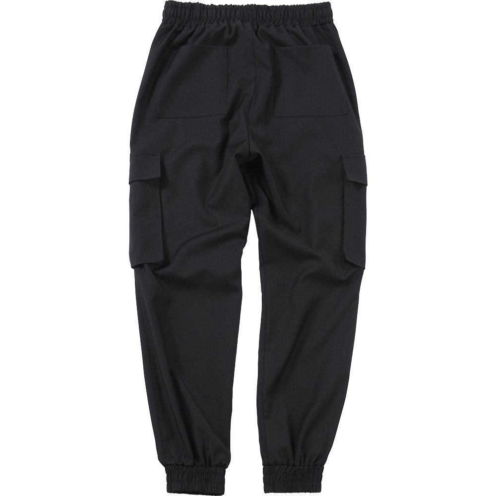 Cargo Jogger Slacks Pants [Black],NOT4NERD