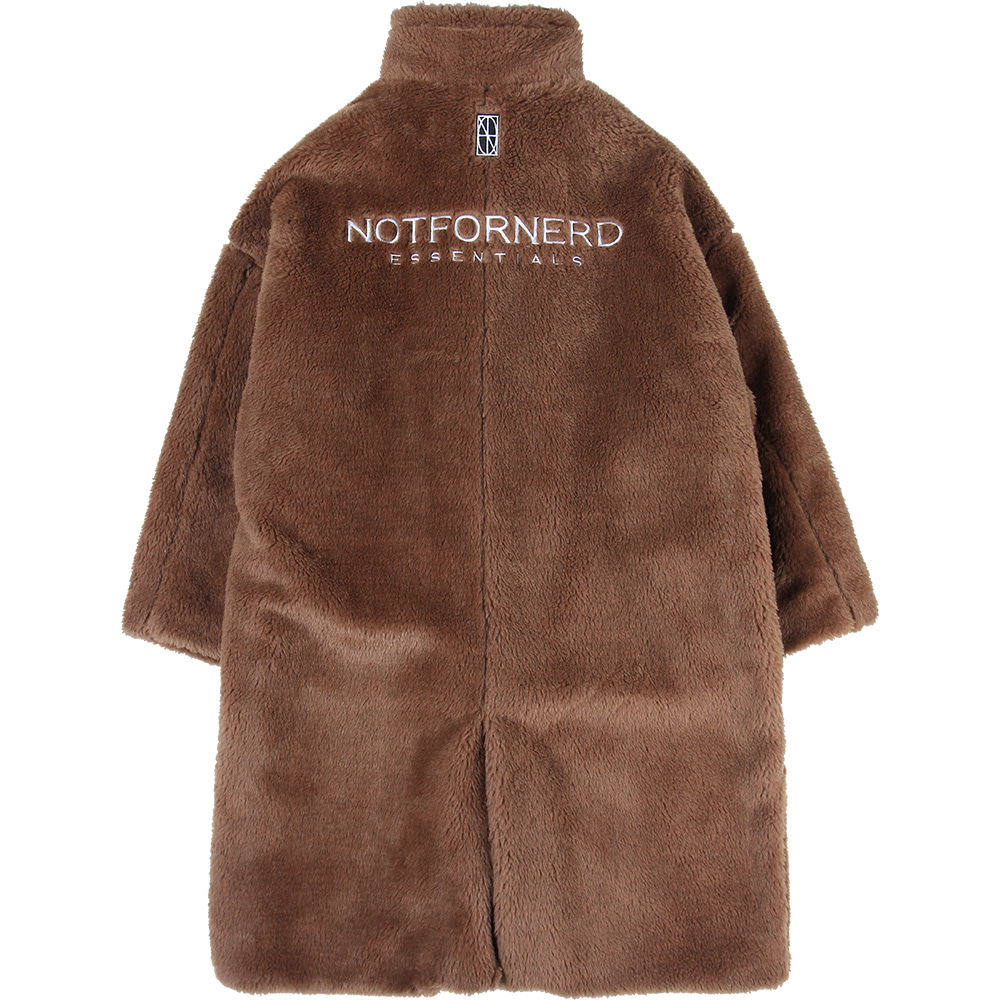 Essential Logo Fur Coat [Coyote],NOT4NERD