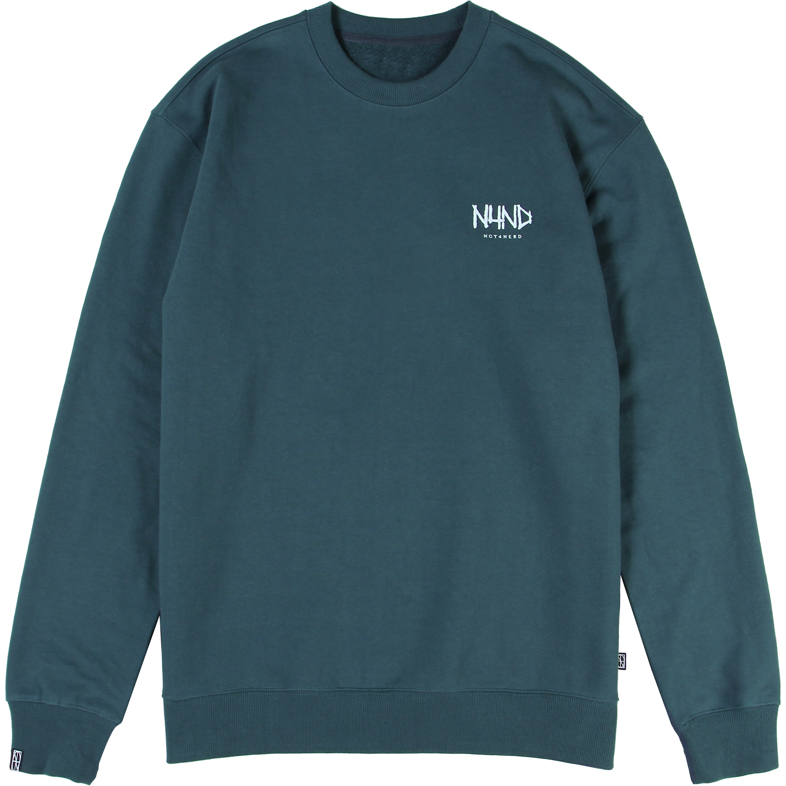 Brush Symbol Logo Crewneck [Olive],NOT4NERD